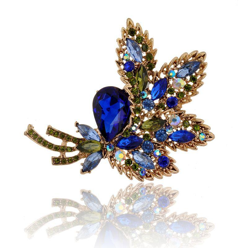 Big Rhinestone Crystal Brooches New Statement Fashion Women Jewelry Fashion  Leaf Elegant Brooch Hot Sell for Choose High Quality Brooch Badge China  Brooch ... ba9db8a6137c