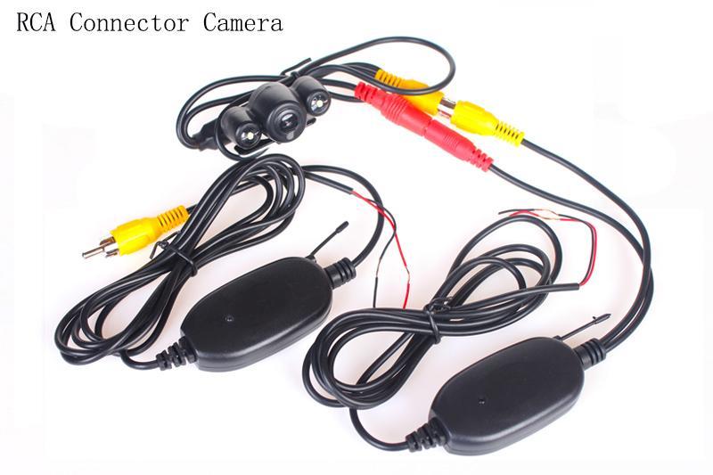 LED Telecamera di retromarcia Telecamera di backup Telecamera 2.4G Wireless / Cavo Telecamera posteriore HD 140 Obiettivo