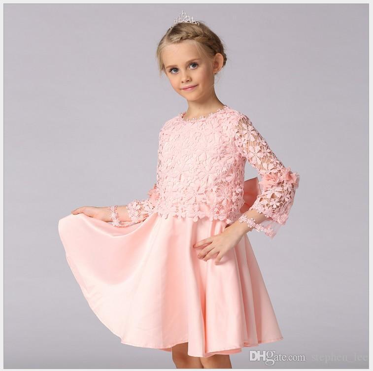 b44b23be4 2018 High Quality 2016 New Autumn Girl Lace Princess Dress Fashion ...