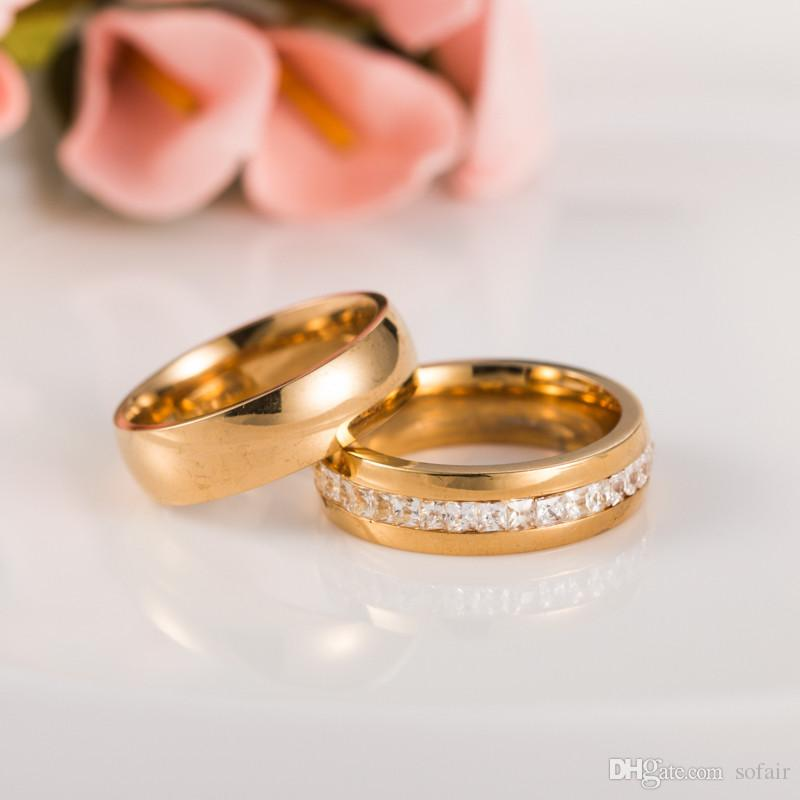2018 2 In Lovers Couple Rings Plane Plated Cross Charms 316l