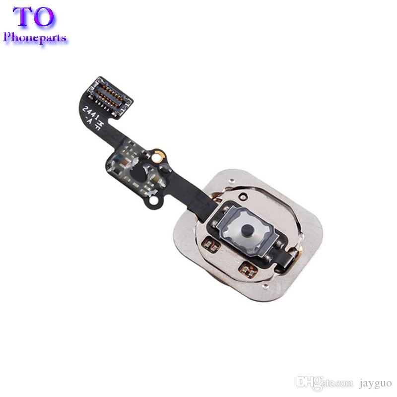 10 UNIDS NUEVO Botón de Inicio Flex Cable Ribbon Assembly para iPhone 5S 6 6 Plus 6S Plus parte de reparación Envío gratis