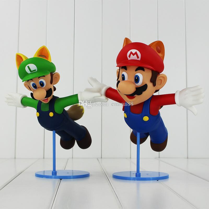 22cm Super Mario Bros 2 LUIGI Mario PVC Action Figure Collectable Model Toy for kids gift EMS
