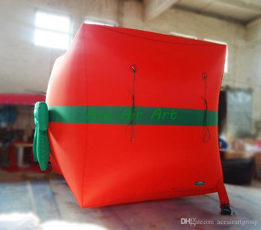 Custom Plush inflatable Christmas Gift box, Christmas decoration, inflatable box for Christmas gift bag