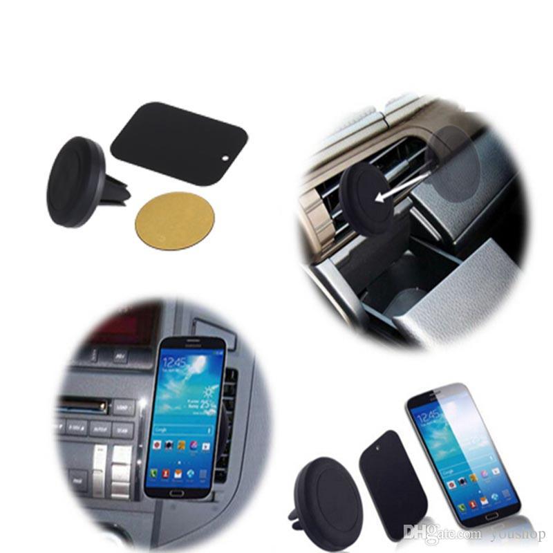 스마트 폰 미니 태블릿을위한 360도 회전 자석 자동차 전화 Hodler 에어 벤트 마운트 핸드폰 자동차 홀더