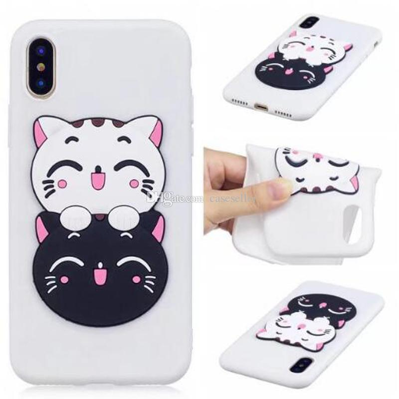 3D Cute Cartoon Pineapple horse owl dog dollar Silicone TPU Case for iphone X 8G 7 PLUS 6S PLUS 5S S8 PLUS NOTE8