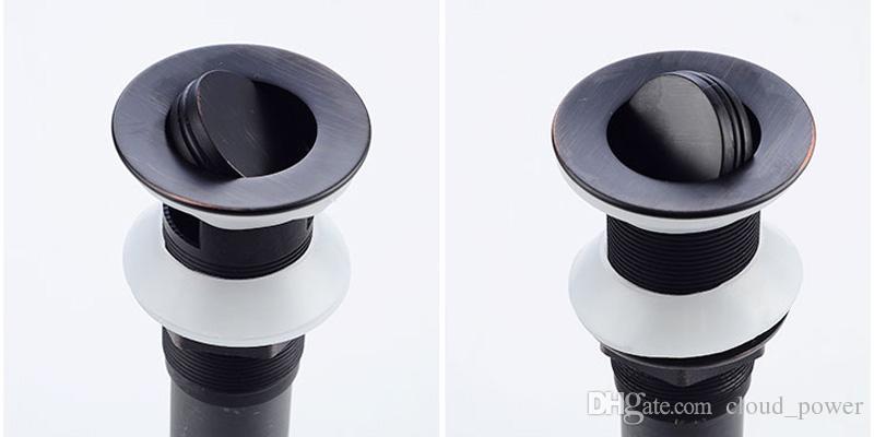 Crépine de débordement / sans débordement en bronze huilé de 1 1/2