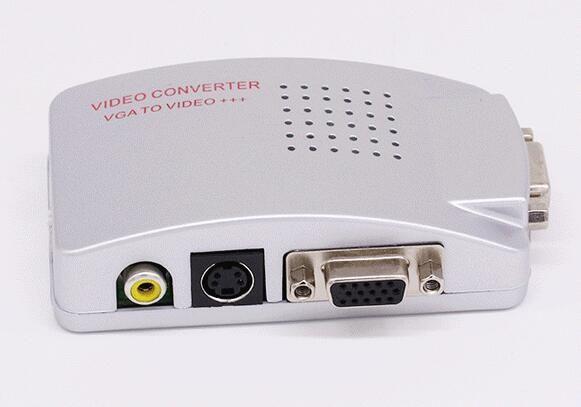 PC VGA a TV AV RCA Adaptador Convertidor Video Switch Box