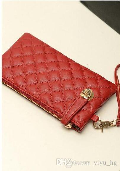 Mode 2016 Vintage Dame Weiche Umschlag Clutches Geldbörse für Frauen Leder Carteira Feminina Tote Berühmte Marke Mini Reißverschluss Lange Brieftasche Taschen