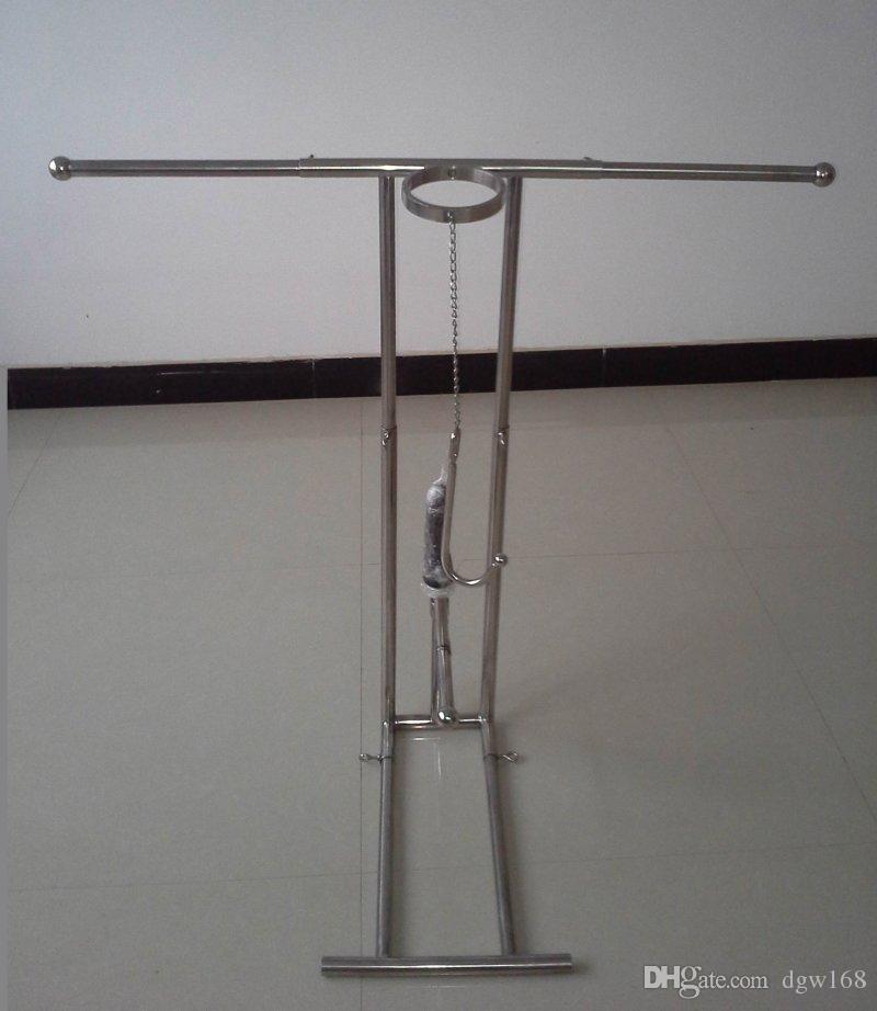 Paslanmaz çelik sm esaret çerçeve işkence cihazı kol bilek bacak bileği kısıtlama kelepçe boyun korse yaka anal kanca yapay penis