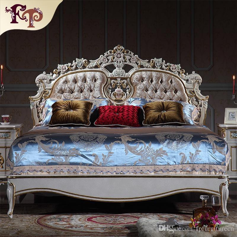 2017 Baroque Classic Bedroom Furniture French Royalty Bed