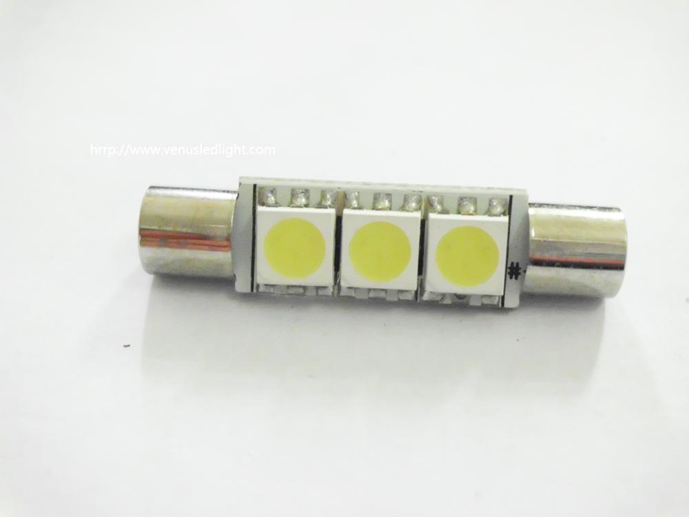 super White 29MM 5050 3SMD led Festoon Dome Map LED Light panel Bulb 211-2 578 569