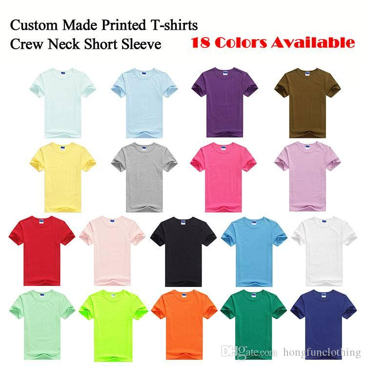 CUSTOM MADE SCREEN PRINTED MEN S T SHIRTS PRINT ONE COLOR INK 100% COTTON  TEES WITH YOUR OWN LOGO HFCMT001 Shirt Designer Customised T Shirts From ... 28addac99df9