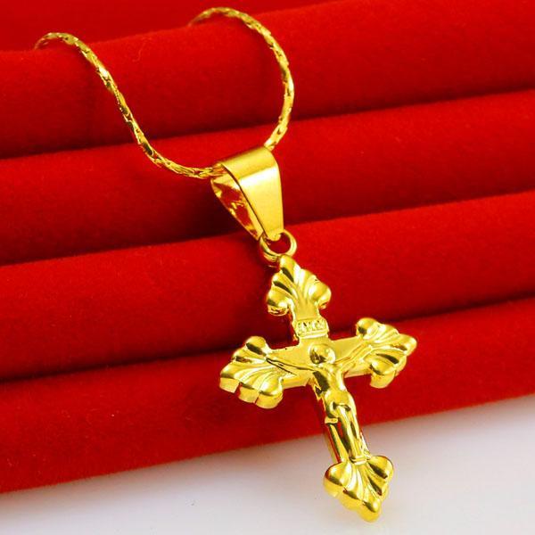 Chikage bijoux collier en or hommes amoureux de la femme chaîne de Jésus croix du Christ paix au Vietnam or