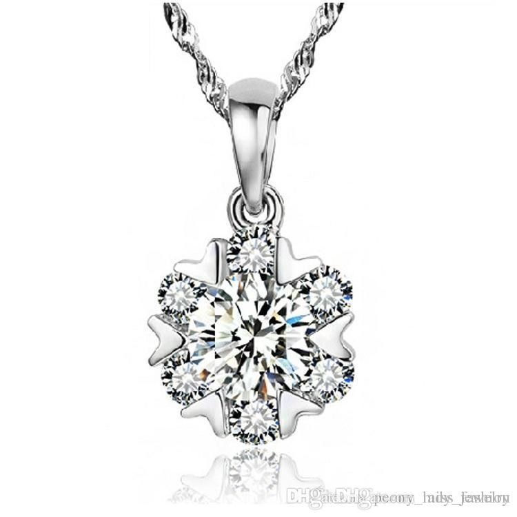 Wholesale 925 sterling silver diamante crystal six flower pendant wholesale 925 sterling silver diamante crystal six flower pendant necklace jewelry mens pendant necklace photo pendant necklace from missfashion aloadofball Images