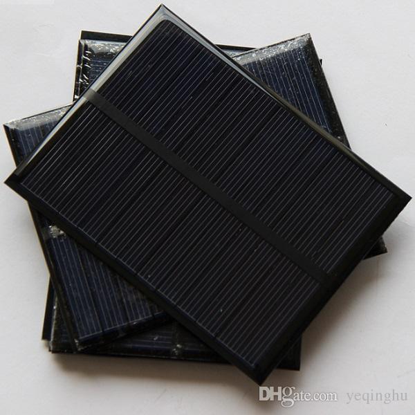 도매 1.2W 6V 작은 태양 전지판 Pocrystalline 실리콘 태양 전지 DIY 태양 단위 교육 장비 에폭시 112 * 84 * 3mm