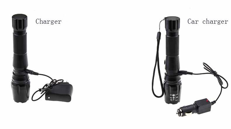 18650 Battery + Car Charger + charger Ultrafire CREE LED XML T6 3000 Lumens flashlight High Power E17 LED Zoomable Torch light