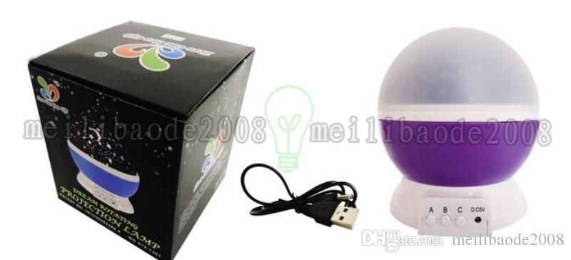 Romantic Rotating Spin Night Light Projector Children Kids Baby Sleep Lighting Sky Star Master USB Lamp Led Projection MYY