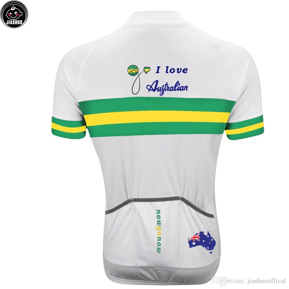 Klasyczna Nowa Australia MTB Road Racing Team Bike Pro Rower Jersey / Koszule Topy Odzież Oddychanie Powietrze Jiashuo