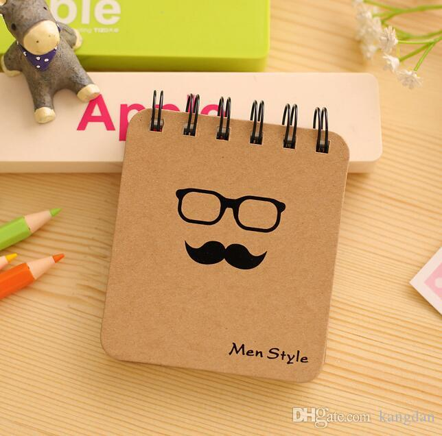 spiral Notebooks Creative Stationery Notepad Portable Gentleman Eco-friendly Pocket Memo Soft Copybook Portable Pocket travel journal Diary