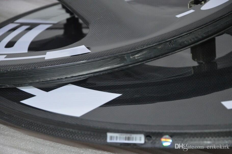HED 3 radios y disco cerrado Wheelset Road Hubs ruedas de bicicleta de carretera de carbono completo ruedas de fibra de carbono