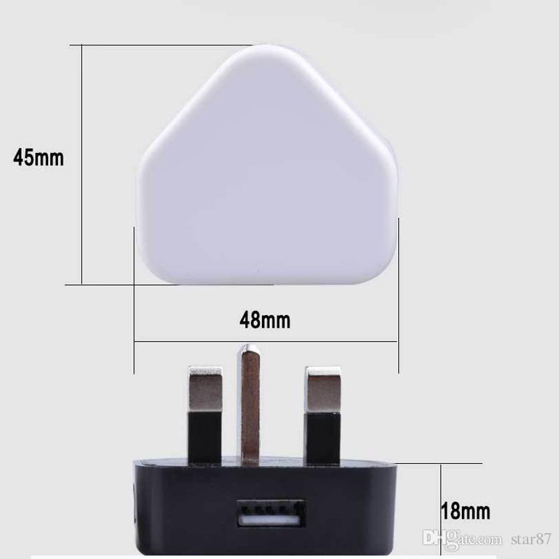 Caricabatterie universali a carica diretta Caricabatterie triangolari a casa caricabatterie telefoni UK AC Power Adapter tutte le versioni