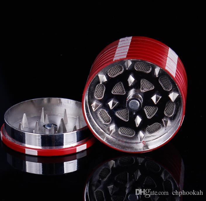 Pequeno Chip Cartões de Detector De Fumaça Quebrado Liga De Zinco 3 Dentes De Metal 40mm Moedor Portátil