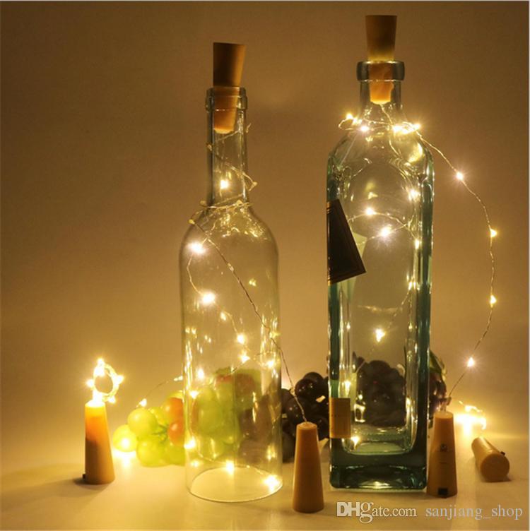 Tappo bottiglia Tappo a forma di tappo Cork2M 20LED Plug Bottiglia di vino LED Night Lights Xmas Party Wedding Halloween Decor Best 2017