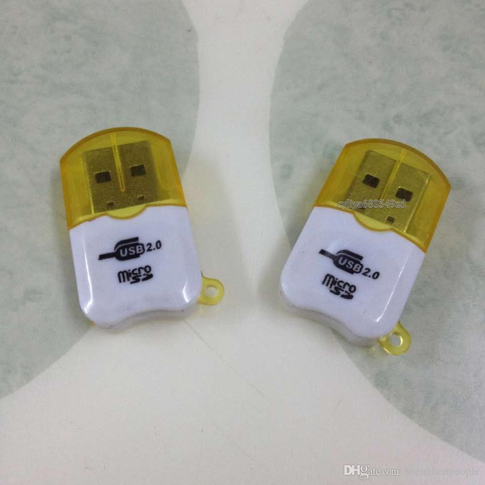 100шт Epacket Бесплатная доставка высокоскоростной USB 2.0 Micro SD card T-Flash TF M2 Memory Card Reader адаптер 2gb 4gb 8gb 16gb 32gb 64gb TF Card