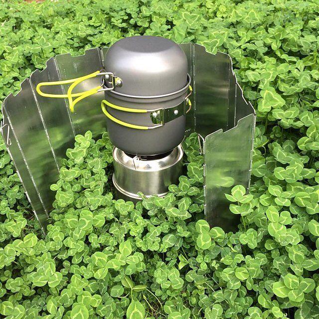 Outdoor 1-2 Person Eloxiertem Aluminium Antihaft Kochtöpfe Camping Wandern Rucksack Picknick Kochgeschirr Topf Schüssel Set