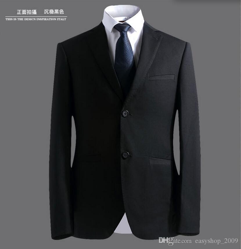 القادمون الجدد زرين كلاسيكي أسود العريس البدلات الرسمية الذروة التلبيب رفقاء العريس أفضل رجل يناسب الرجال الدعاوى الزفاف سترة + بنطلون