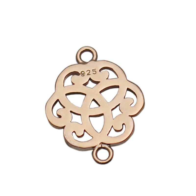 Beadsnice Sterling Silver Filigree Connector Pendant Link Jewelry Findings Cloud Shape Filigree Component for Necklace Making ID 34874