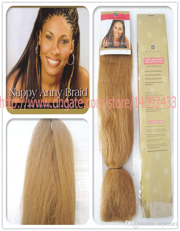 Jumbo Braid Afro Hair Extensions Nappy Anny Braid 24inch Yaki Briad
