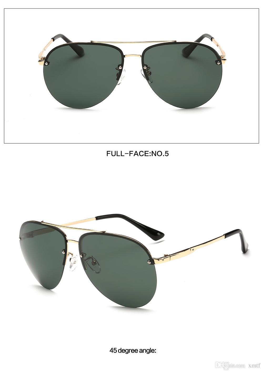 Бренд дизайнер мужчины поляризованные солнцезащитные очки половина кадра рама вождения очки Очки для рыбалки открытый спорт солнцезащитные очки Oculos De Sol