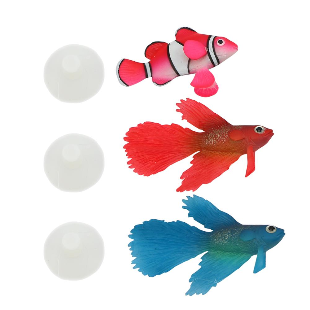 2016 New Arrival 2 Styles Aquarium Artificial Fish Decor Glowing ...