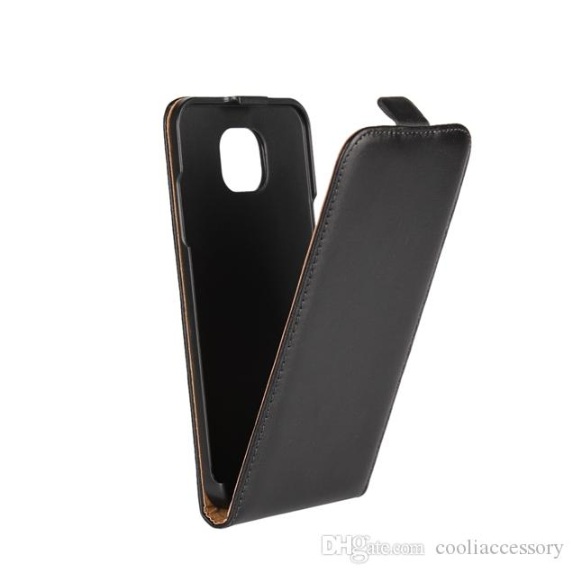 For Sony Ericsson Xperia XZ3 XA LG X Cam Genuine Real Flip Leather Pouch Case Vertical Black Smooth Cell Phone Purse Skin Cover Luxury