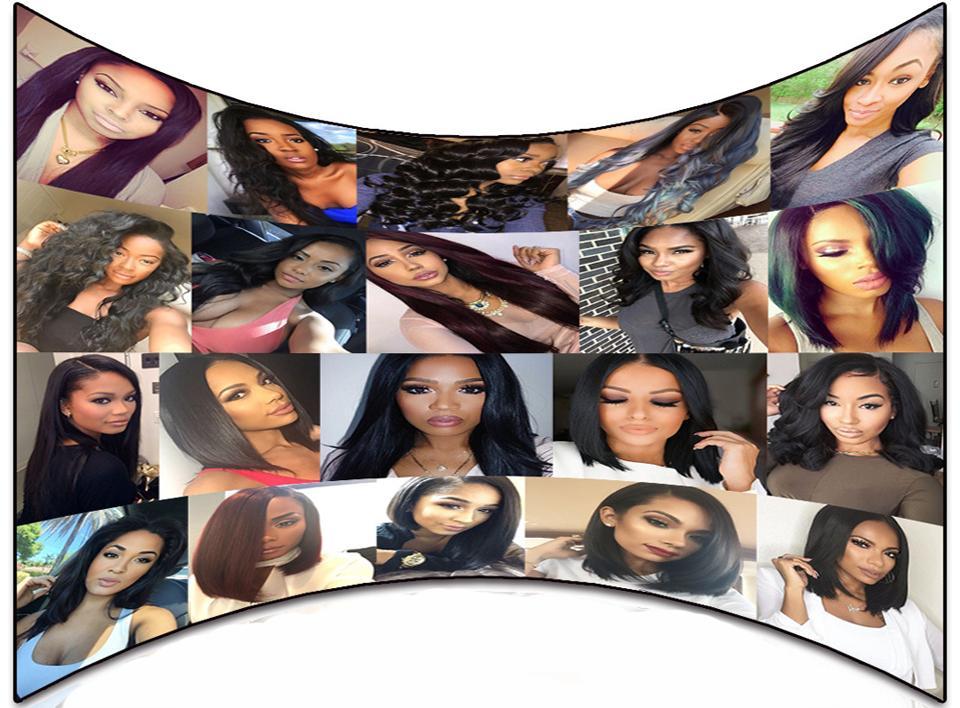 Glueless Full Lace Pelucas de cabello humano para mujeres negras Pelucas de cabello de Malasia Mojado Ondulado Beyonce Lace Front pelucas con el pelo del bebé