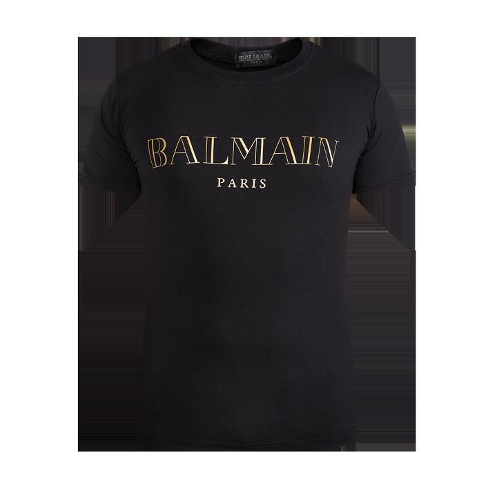 2016 balmain paris mens black t shirts homme short sleeve tee shirts brand clothing nwt m l xl. Black Bedroom Furniture Sets. Home Design Ideas