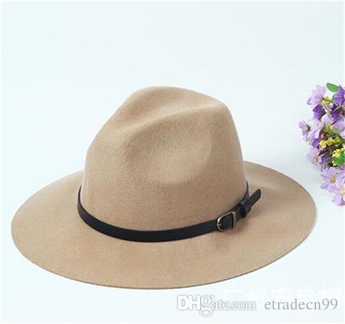 Fine Men Floppy Brim Pure Wool Fedora Hats for Spring Autumn Winter Women Soft Woolen Felt Fedoras Caps Wholesale Hat