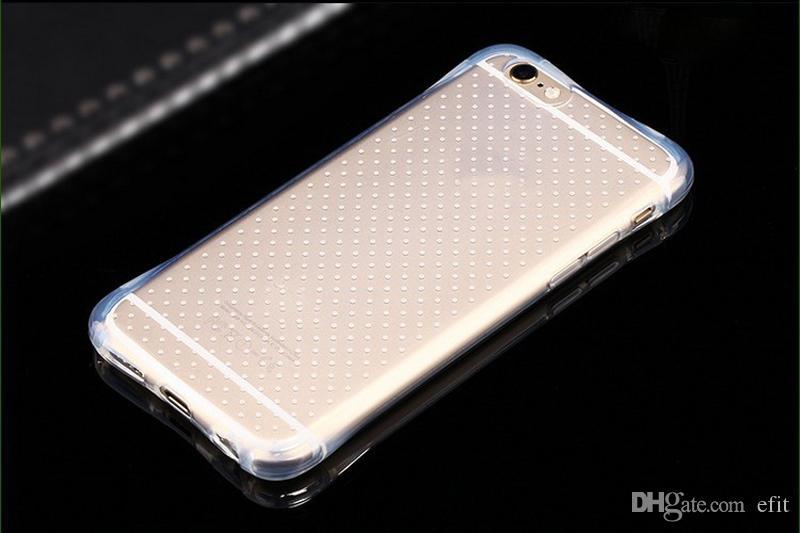 2016 à prova de choque Magro Armadura Anti-choque suave Limpar 0,5 milímetros TPU Capa para Samsung Galaxy S7 borda S6 iPhone 5SE 6S Além disso,