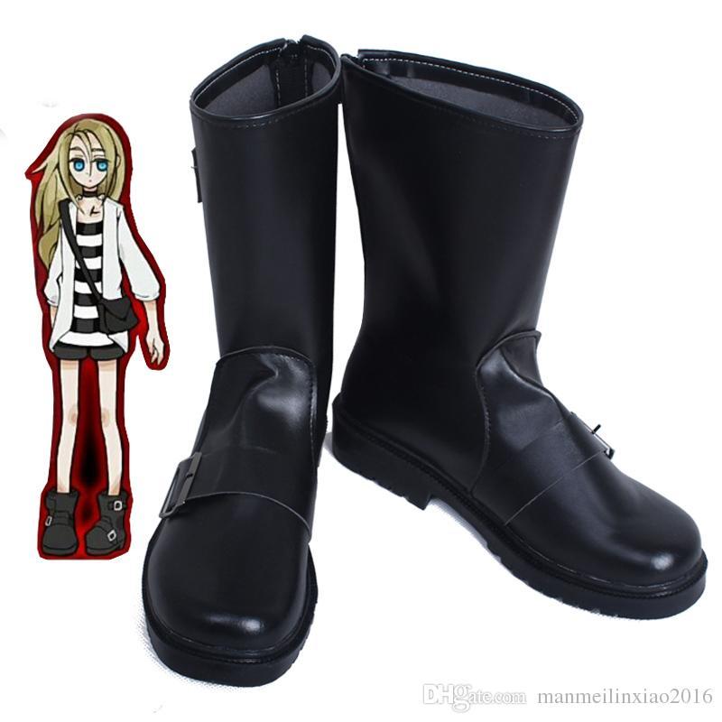 Исключительная роль игры аниме Ангел смерти Рейчел'Gardner Рей косплей обувь Хэллоуин аксессуары сапоги подгоняет handmade