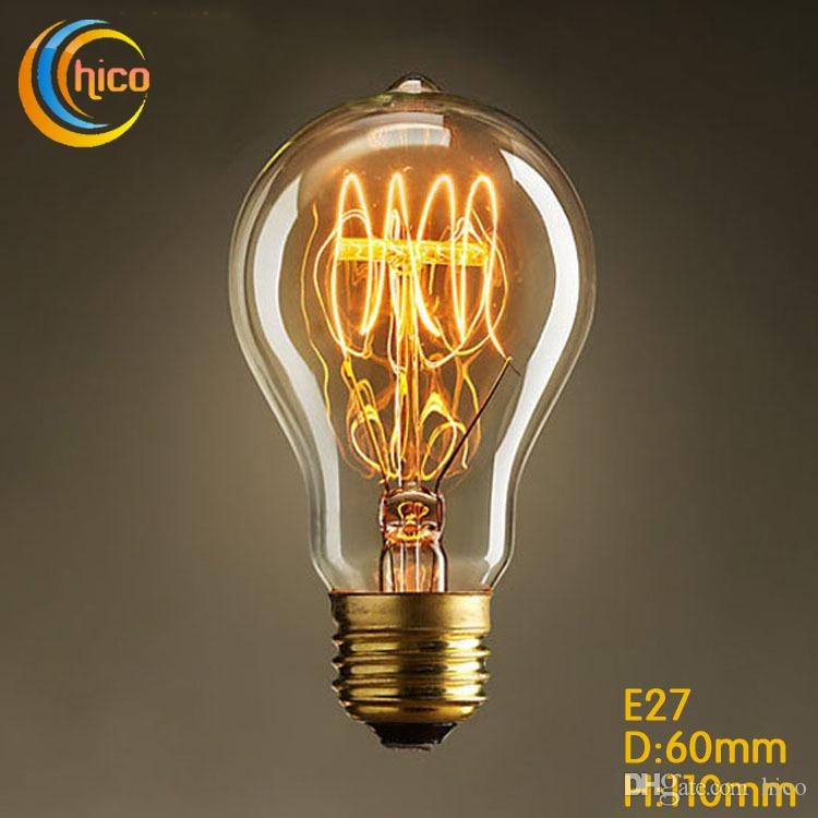Led Vintage Edison Light Bulb LED Light Bulb E27 Vintage Squirrel 40W  Fireworks Carbon Filament Antique Lamp Lights Bulbs Edison Light Bulb LED  Light Bulb ...