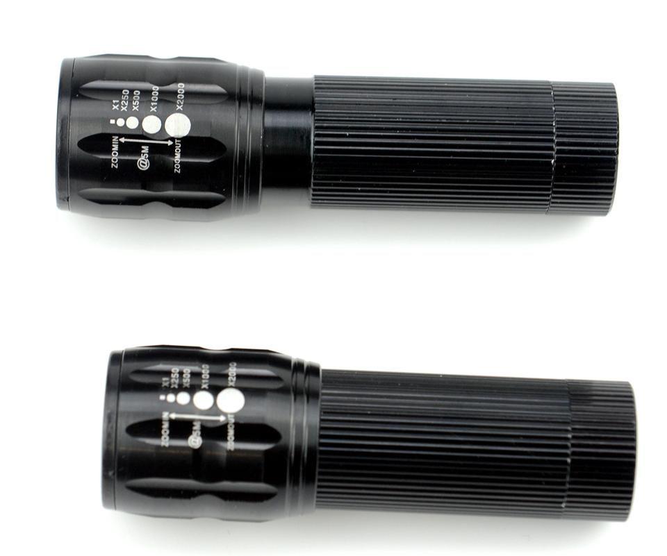 Trois vitesses / mini échelle se concentrant LED lampe de poche 2000 lumen leds lampe de poche phares de vélo lampe de poche extérieure