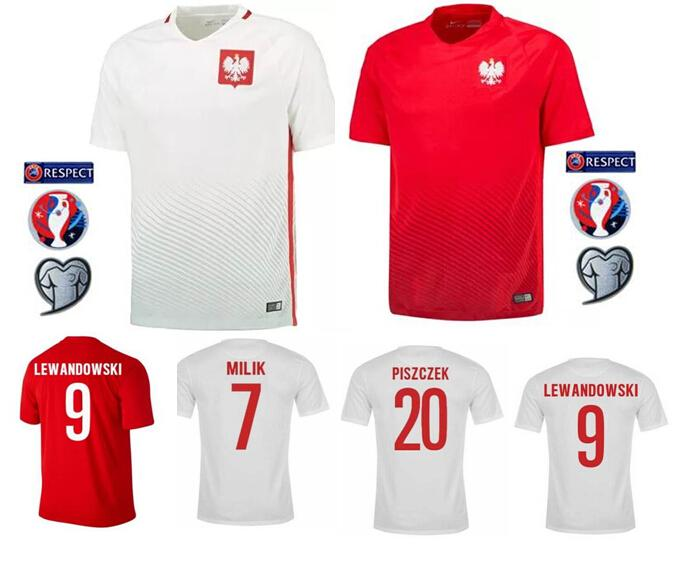 free shipping fadf4 f3d8c poland national team jersey