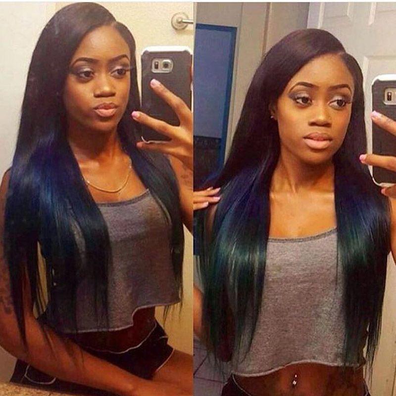 Bella Hair Straight Indian Completa Rendas Peruca Cabelo Humano 100% Humano Virgem Perucas De Cabelo Virgem Para Mulheres Negras Céu Médio Cor Natural