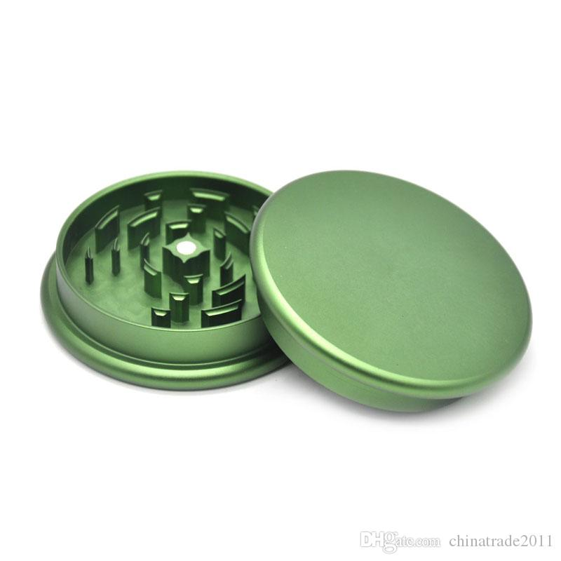 Sharp Grinders for Tobacco 53mm*20mm Metal Grinder 2 Parts Aluminium Dry Herbal Crusher High Quality Smoking Accessories