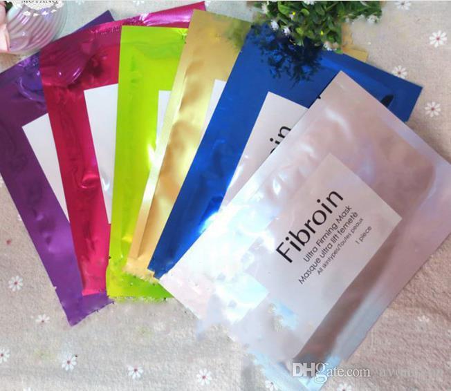 Fibroin Mechal Skin Odnawianie twarzy Anti-Wrlać Maska Potrójne Jedwabne Maski Biologiczne Kosmetyczne Wybielanie Multi-Colors B694