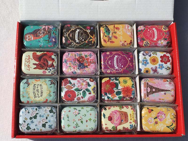 flower design Small Handbag Storage Jewelry Decorative Tin Box With Lids Candy Earphone Ring Christmas Gifts Boxes