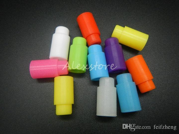Silikon-Mundstückabdeckung Gummi-Tropfspitze Silikon-Einweg-Universal-Testspitzen-Kappe Einzeln verpackt für Zerstäuber-Verdampfer mit 510 Gewinden