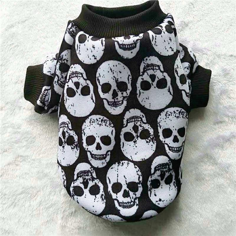 44652b0c013 3 Colors Skull Dog Hoodie Autumn Winter Dog Clothes for Small Dog Pet Coat  Jacket Outfit Shih Tzu Yorkies Clothes Puppy Clothing XXS-L