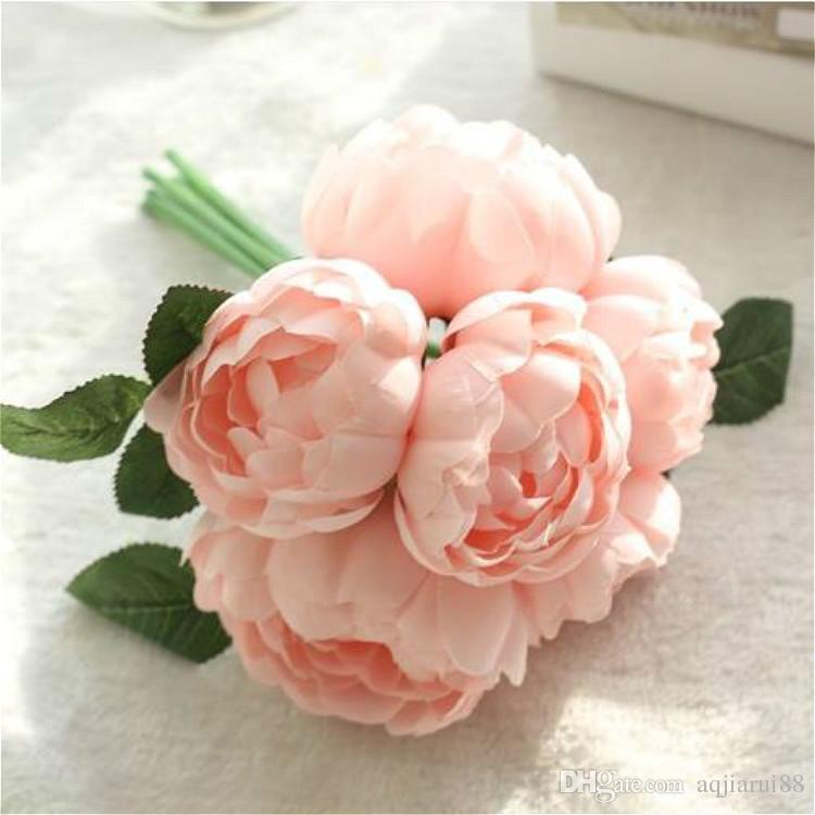 Artificial Silk Peony Round Rose Flower Simulation Flowers Wedding